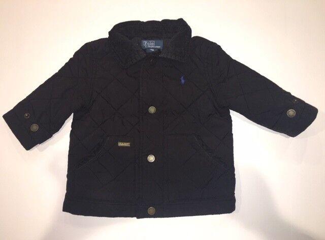 Boys Ralph Lauren Quilted Barn Jacket, Black, Size 18 month