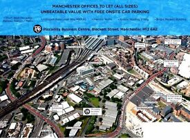 All size offices incl free parking and WiFi, close to Piccadilly Station- from £90 + vat weekly