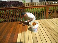 outdoor staining ! Protect your wood from weather damage !