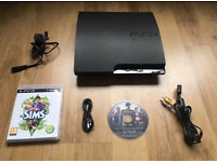 160gb charcoal black slim PS3 with games