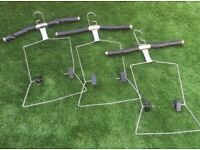 X6 adjustable & detachable leather hangers