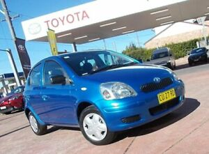 2004 Toyota Echo NCP10R Bishop Blue 4 Speed Automatic Hatchback South Hurstville Kogarah Area Preview