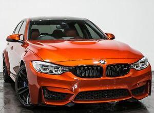 2014 BMW M3 F80 M-DCT Orange 7 Speed Sports Automatic Dual Clutch Sedan Rozelle Leichhardt Area Preview