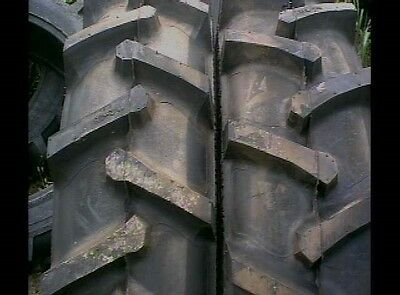 Two 18.4x26 Ford John Deere R 1 Bar Lug 12 Ply Tube Type Rear Farm Tractor Tires
