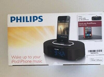 Philips Alarm Clock Radio 30-pin Speaker Dock for iPod/iPhone AJ7030DG/37- NEW