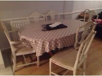 Shabby chic dinning table & chairs