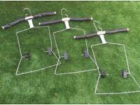 X6 Adjustable leather hangers