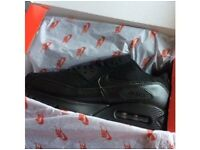 Brand New All Black Nike Air Max 90 Trainers For Sale