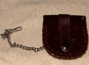 Pocket watch pouch - leather - for belt - metal latch Cambridge Kitchener Area image 2