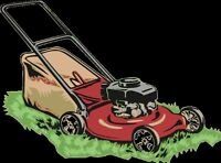 handyman landscaping grass trees man with trailer for hire
