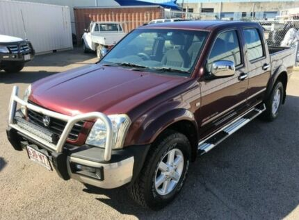2004 Holden Rodeo TF Deluxe Crew Cab Maroon Automatic Utility