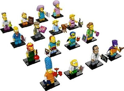NEW LEGO 71009 Complete Set of 16 MINIFIGURES - The Simpsons Series 2
