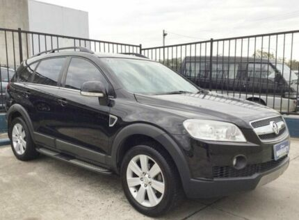 2007 Holden Captiva SOLD LX LEATHER 7 SEATER Black 5 Speed Automatic Wagon