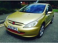peugeot 307 12Month Mot 12Month tax very lovely lady owne