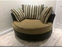 Snuggle chair and 3 seater sofa