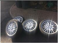 "BMW M-series 18"" Alloys and tyres"