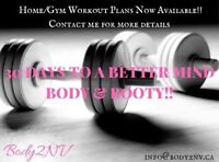 Home and Gym Workout Plans Available!