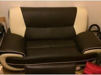Cream and Brown two seater