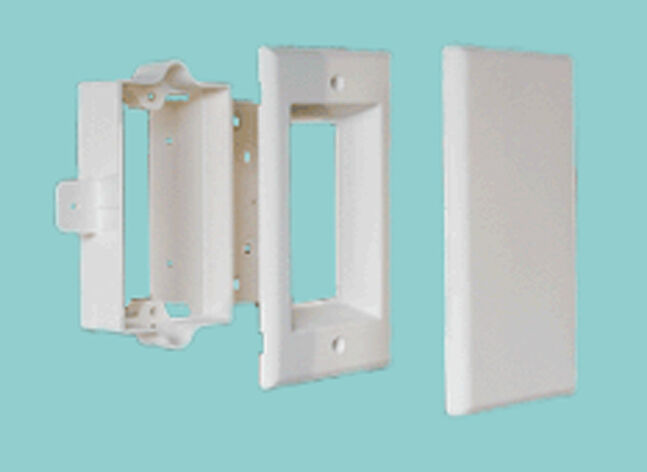 CONFIGURABLE RECESSED WALL PLATE KIT