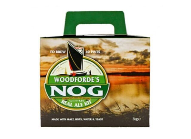 Woodfordes Nog Beer Kit - Home Brewing - Beer Making - Real Ale - 40 Pints