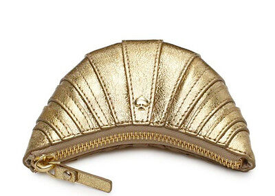 NWT Kate Spade SOLD OUT WORTH STREET CROISSANT GOLD LEATHER COIN PURSE CHANGE