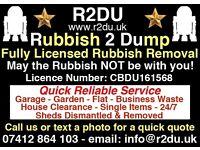R2DU Fully Licensed Rubbish Removals