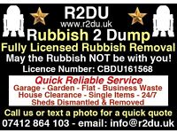 R2DU Fully Licensed Rubbish Removals