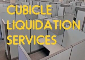 CUBICLE LIQUIDATION SERVICES + OFFICE FURNITURE< WAREHOUSE ETC.