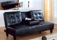 BEST DEAL-QUALITY SOFA BED FUTON W/ CUP TRAY! DELIVERY