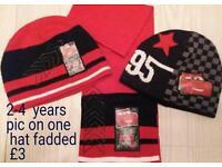 Boys 2-4 years lightning McQueen hats & scarf bundle