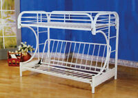 BUNKBED, DOUBLE AND A FUTON OVER TWIN