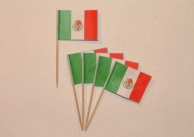 Flaggen Zahnstocher Mexiko Fahne Flagge Minipicker Partyzahnstocher