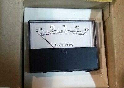 Jewell Modutec 0-50 Ac Ampheres Panel Meter 2s-aacx-050