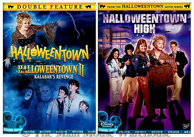 Disney Channel Halloween Movie Series Halloweentown I II III DVD Trilogy 1 2 & 3 ()