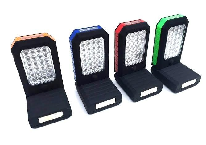24 + 3 led work light - lamp with hook and magnet