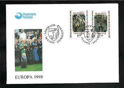 FAROE ISLANDS FIRST DAY COVER - 1998 - EUROPA