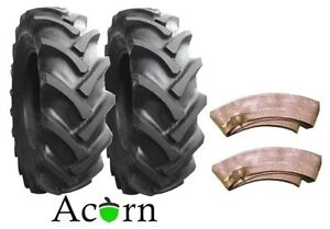 Tractor Rear Tyres 11.2 x 28 Malhotra  Deal from Acorn Pair 8 Ply with Tubes