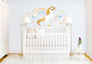 Wandtattoo unicornio con arcoiris pegatina de pared cuarto for Cuarto unicornio nina