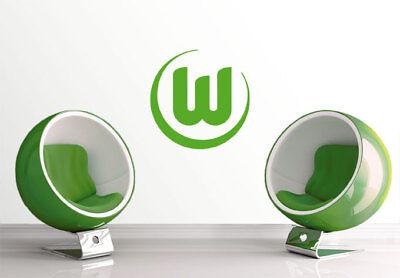 Wandtattoo VfL Wolfsburg Logo 1 grün Wandaufkleber Wandfolie Klebebild Wanddeko