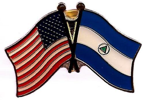 LOT OF 12 Nicaragua Friendship Flag Lapel Pins - Nicaragua Crossed Flag Pin