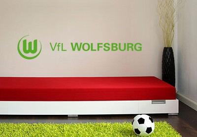 Wandtattoo VfL Wolfsburg Logo 3 grün Wandaufkleber Wandfolie Klebebild Wanddeko
