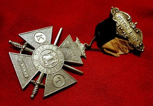 MASONIC MADE Rare Antique KNIGHTS TEMPLAR SYMBOLS JEWEL! 26 Triennial MYSTIC SUN