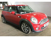 MINI HATCH COOPER 1.6 COOPER D 3d 112 BHP SERVICE RECORD++ HALF LEATHER TRIM CHILLI RED PACK