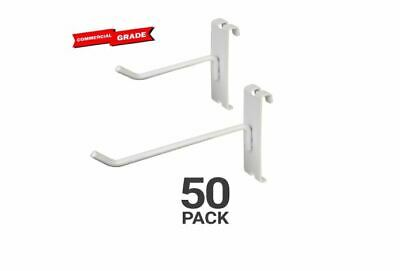 White Gridwall Hooks For Any Retail Display Assortment Pk Of 50 8 White Color