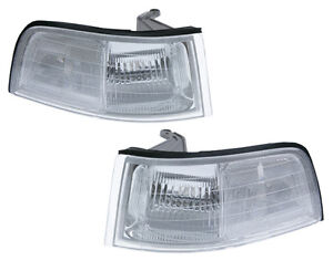91-95 Acura Legend 2D Coupe JDM Clear Corner Park Lights PAIR