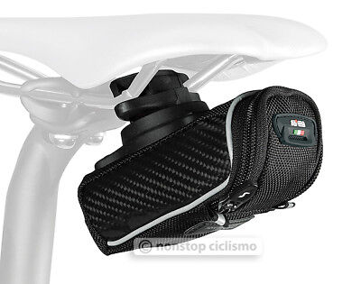Sci Con Saddlebag - SciCon PHANTOM 230 Roller Carbon Bicycle Saddle Bag Under Seat Storage BLACK