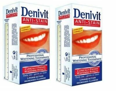 Intense Stain Removal (Denivit Intensive Stain Removal Professional Whitening Toothpaste 50ml Pack Of 2 )