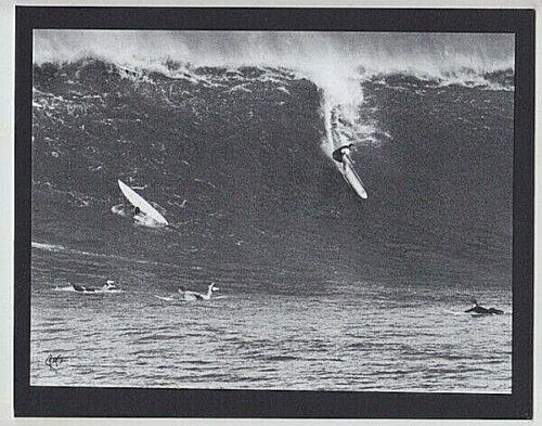 "WAIMEA BAY SURFER BLACK & WHITE ORIGINAL PHOTO ON 8X10"" MATT NORTH SHORE OAHU"