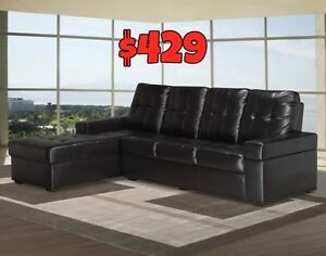2PCS SECTIONAL BONDED LEATHER $429 LOWES PRICES