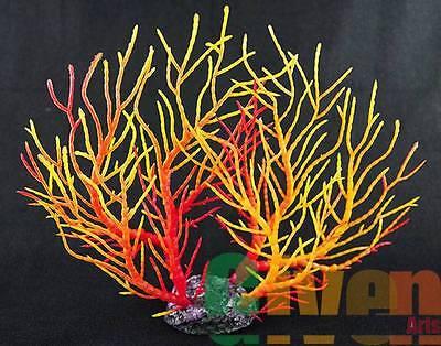 Aquarium Fish Tank Silicone Sea Anemone Artificial Coral Ornament 9101L(R+Y)